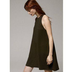 Aritzia Wilfred Le Fou Trompette Army Green Dress